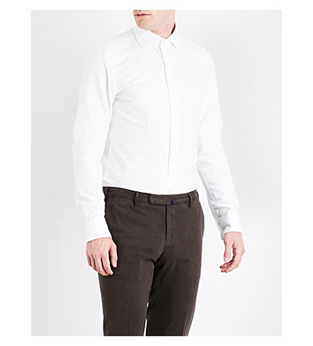 RICHARD JAMES Contemporary-fit cotton Oxford shirt (White