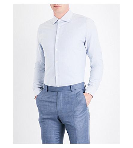 RICHARD JAMES Contemporary-fit cotton Oxford shirt (Pale+blue