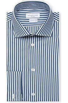 RICHARD JAMES Stripe Cotton Shirt