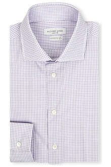 RICHARD JAMES Gingham slim-fit single-cuff shirt