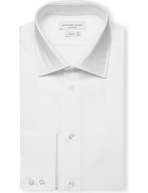 RICHARD JAMES Royal Oxford tailored-fit single-cuff shirt