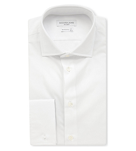 RICHARD JAMES Cotton-poplin regular-fit shirt (White