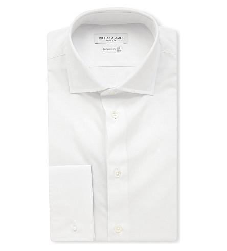 RICHARD JAMES 棉府绸常规版型衬衫 (白色