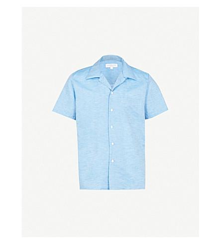 RICHARD JAMES Classic-fit cotton shirt (Aqua