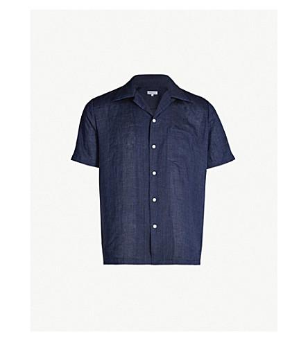 RICHARD JAMES Classic-fit cotton shirt (Dark+indigo