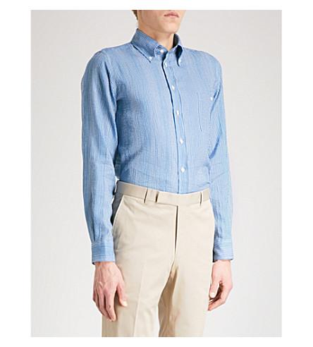 RICHARD JAMES Rj linen cotton shirt (Indigo