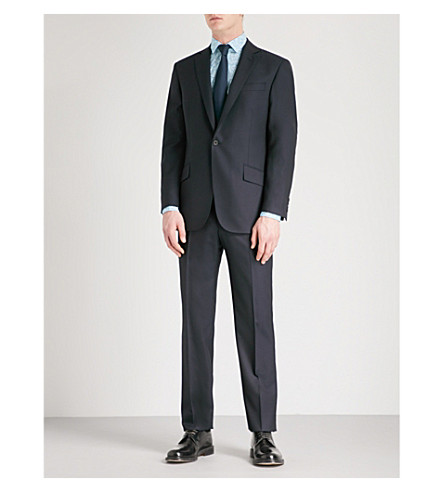 RICHARD JAMES Regular-fit wool and mohair-blend suit (Midnight