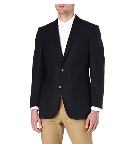 RICHARD JAMES Hopsack-wool blazer (Navy