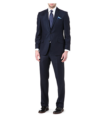 RICHARD JAMES Prince of Wales check wool suit (Navy