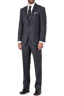 RICHARD JAMES Blue striped single-breasted suit
