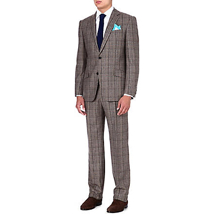 RICHARD JAMES Prince of Wales check wool suit (Brown