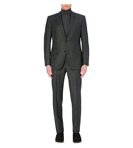 RICHARD JAMES Basket-weave wool suit (Charcoal