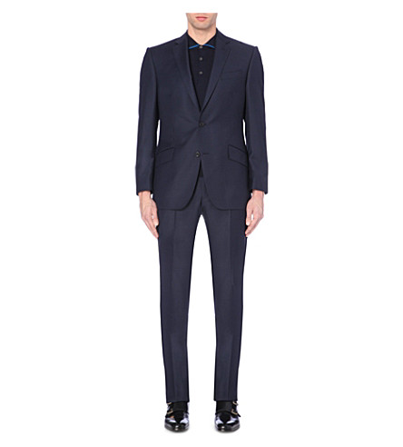 RICHARD JAMES Basket-weave wool suit (Navy