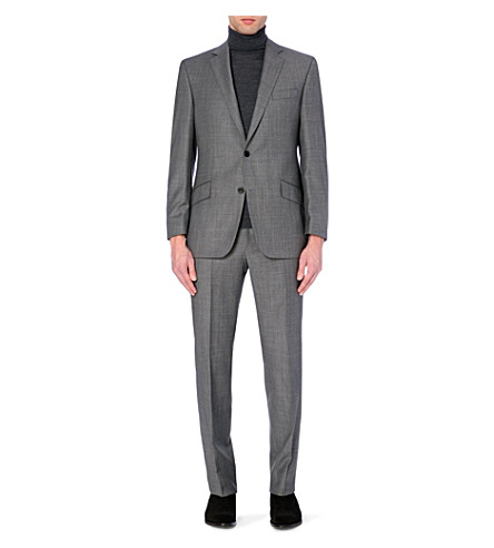 RICHARD JAMES Single-breasted regular-fit wool suit (Mid+grey