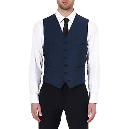 RICHARD JAMES Wool and mohair-blend waistcoat (Petrol