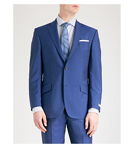 RICHARD JAMES Mill single-breasted wool suit (Blue