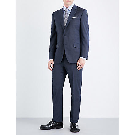 RICHARD JAMES Sharkskin-wool suit (Navy
