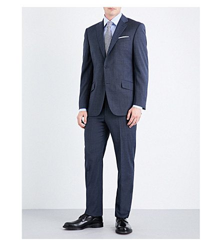 RICHARD JAMES Mill single-breasted wool suit (Navy