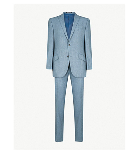 RICHARD JAMES Wool-flannel suit (Aqua