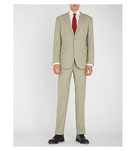 RICHARD JAMES Hyde tailored-fit wool-flannel suit (Soft+grey