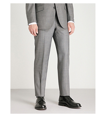JAMES RICHARD suit RICHARD Checked grey Mid regular JAMES fit wool 1STRRwqxE