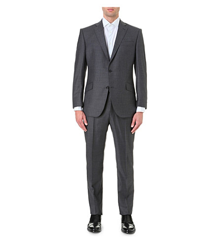 RICHARD JAMES Regular-fit wool suit (Charcoal