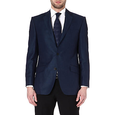 RICHARD JAMES Twill single-breasted suit jacket (Indigo