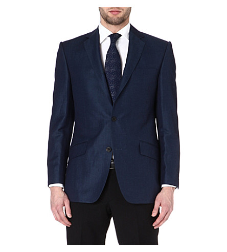 RICHARD JAMES Single-breasted wool-blend twill suit (Indigo