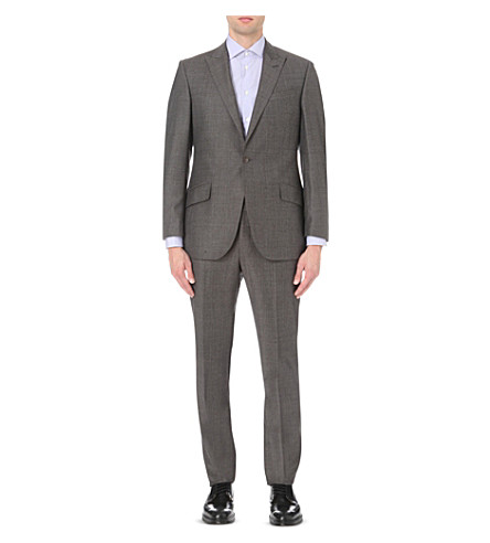 RICHARD JAMES Birdseye wool suit (Brown