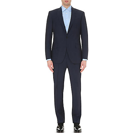 RICHARD JAMES Birdseye wool suit (Navy