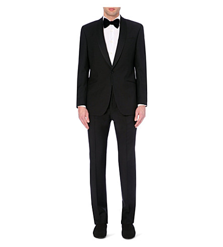 RICHARD JAMES Wool and mohair-blend tuxedo (Black