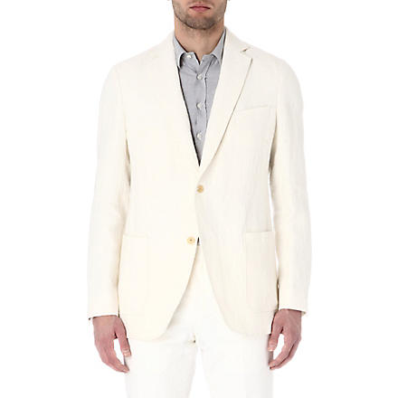 RICHARD JAMES Single-breasted linen blazer (Cream