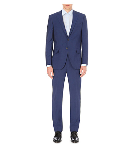 RICHARD JAMES Twill weave wool and mohair-blend suit (Blue