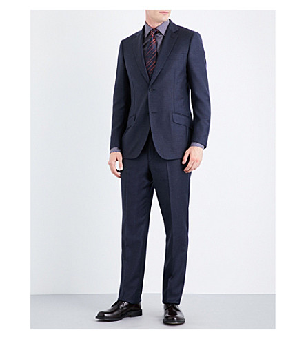 RICHARD JAMES Regular-fit wool suit (Navy