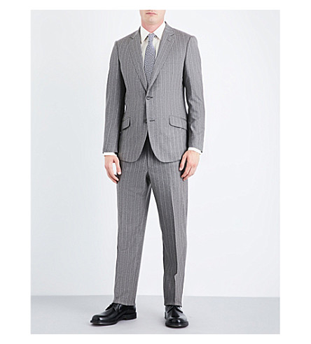 RICHARD JAMES Pinstriped regular-fit wool suit (Grey