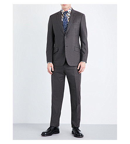 RICHARD JAMES Regular-fit wool-flannel suit (Brown