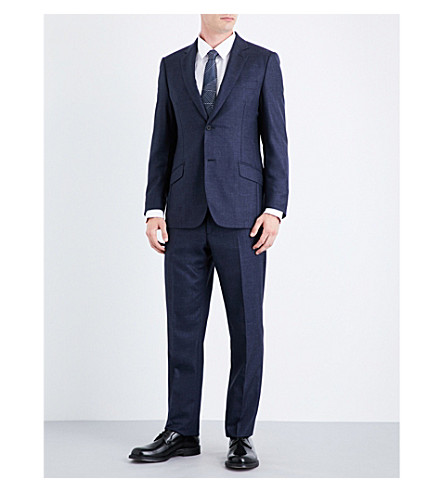 RICHARD JAMES Regular-fit wool, silk and linen-blend suit (Navy