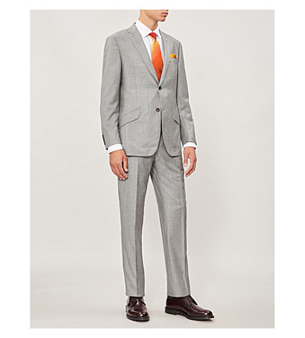 RICHARD JAMES Tailored-fit wool and cashmere-blend suit (Light+grey