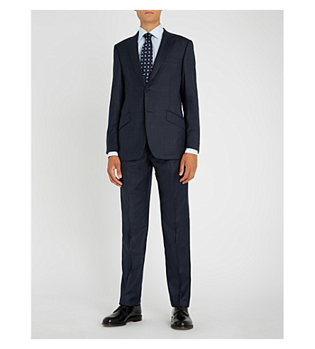 RICHARD JAMES SHADOW CHECKED REGULAR-FIT WOOL SUIT