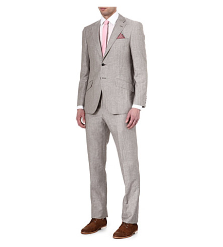 RICHARD JAMES Single-breasted wool suit (Taupe