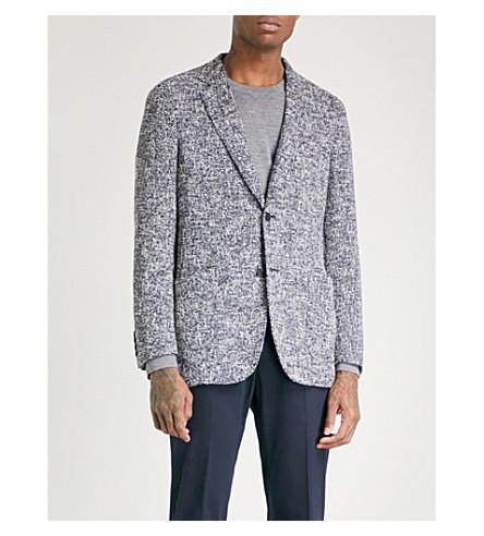 RICHARD JAMES Cotton-bouclé jacket (Navy