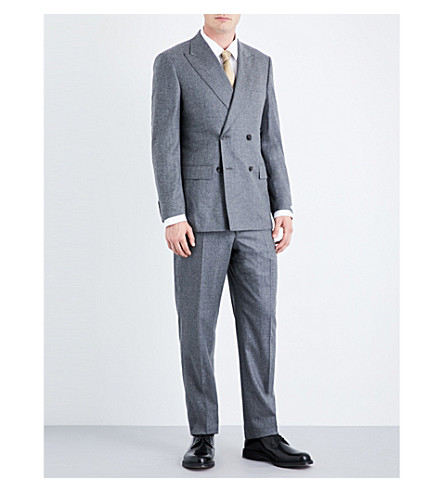RICHARD JAMES Regular-fit wool-flannel suit (Light+grey