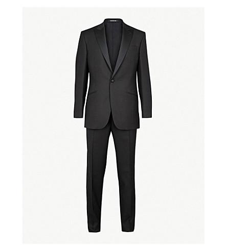 RICHARD JAMES 单排扣常规版型羊毛燕尾服 (黑色