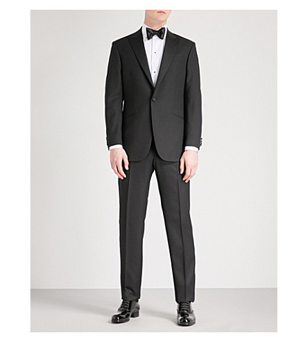 RICHARD JAMES Single-breasted regular-fit wool tuxedo (Black
