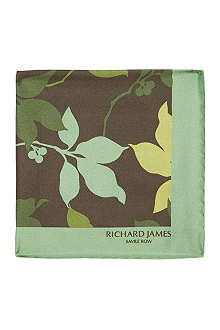 RICHARD JAMES Petals silk pocket square