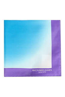 RICHARD JAMES Faded silk pocket square