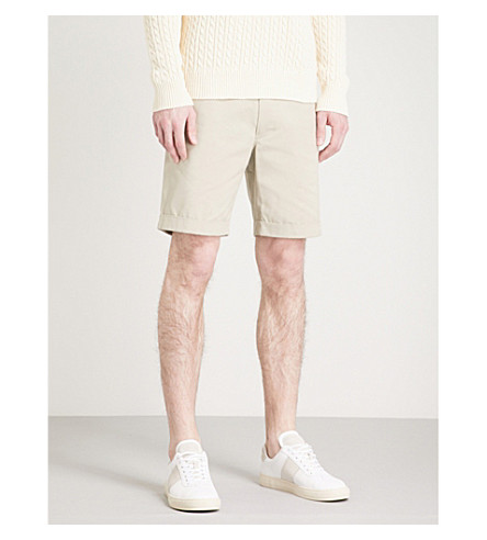 RICHARD JAMES Slim-fit cotton chino shorts (Stone