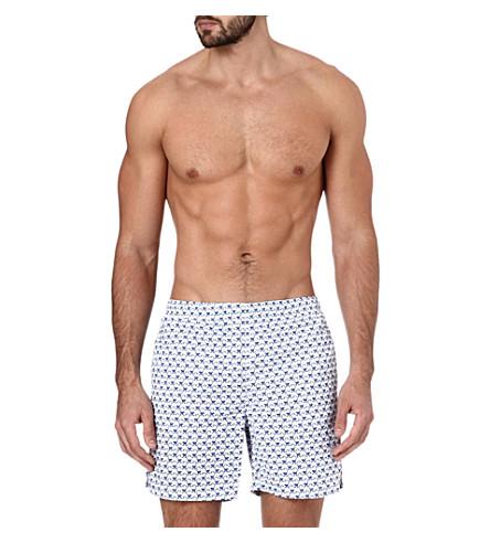 RICHARD JAMES Monkey-print swim shorts (Navy