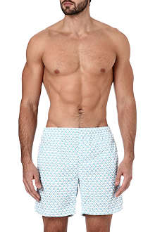 RICHARD JAMES Monkey-print swim shorts