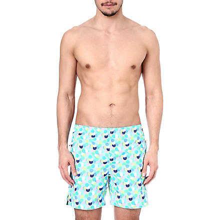 RICHARD JAMES Multi-spot swim shorts (Turq